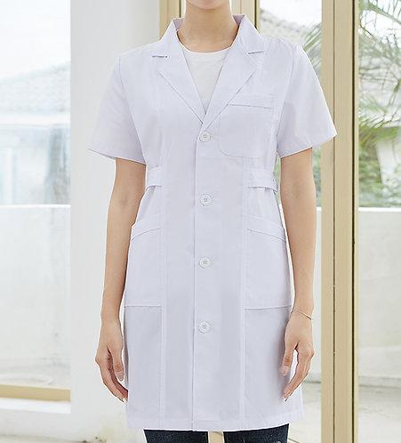 女裝短袖醫生袍 Women Short Sleeve Medical Coat  (TC344HB43 | Y201)