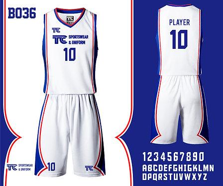 Basketball Jersey 籃球衫 (Design Template 參考設計 B036)