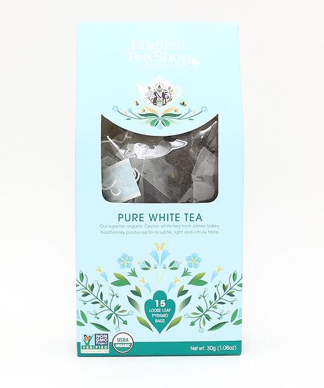 Pure White Tea (15 Loose leaf pyramid tea bags) | 059509