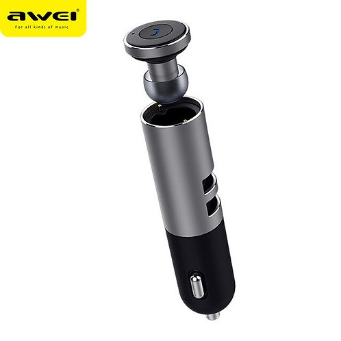 AWEI Earbuds (Bluetooth Earphone) With Car Charger   A870BL