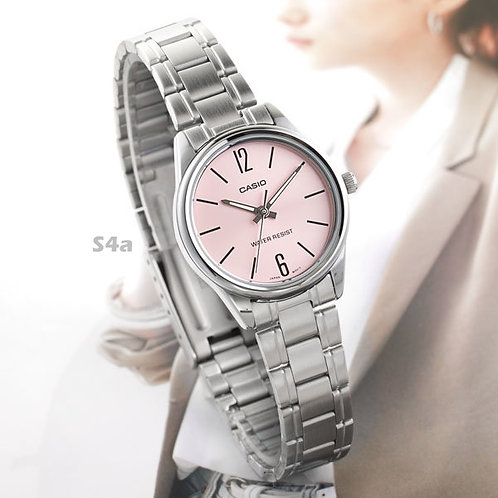 Casio Stainless Steel Watch (Ladies) | LTP-V005D-4B | S4a