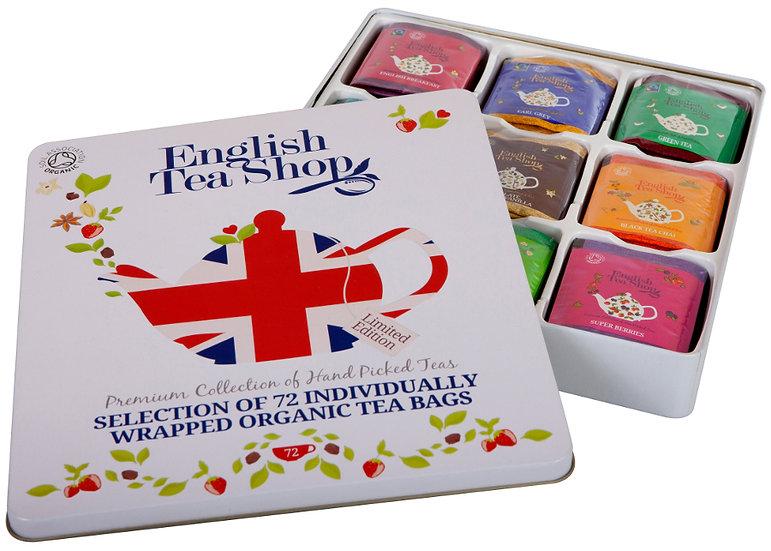 Assorted Union Jack Gift Tin (72 Envelope Tea Bags) | English Tea Shop | 035251