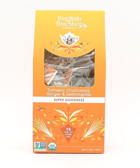 Turmeric (Curcuma) Ginger & Lemongrass (15 Loose leaf pyramid tea bags)   059615