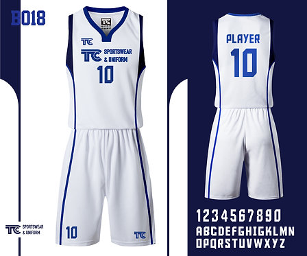 Basketball Jersey 籃球衫 (Design Template 參考設計 B018)