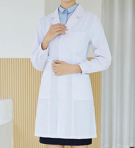 女裝鈕扣長袖厚身醫生袍 Women Long Sleeve Medical Coat (TC344HB43 | Y203) 的副本