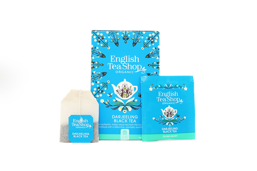 Darjeeling Black Tea (20 Tea Bag Sachets)   English Tea Shop   BR401874