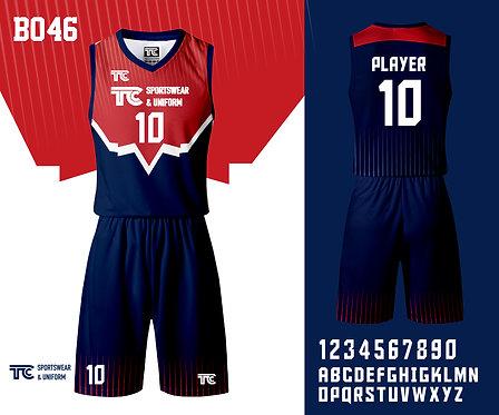 Basketball Jersey 籃球衫 (Design Template 參考設計 B046)