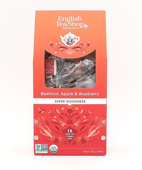 Beetroot, Apple & Blueberry (15 Loose leaf pyramid tea bags) | 059622
