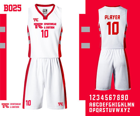 Basketball Jersey 籃球衫 (Design Template 參考設計 B025)