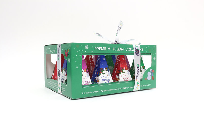 Holiday Green Prism (12 Pyramid Tea Bags)   English Tea Shop   060819