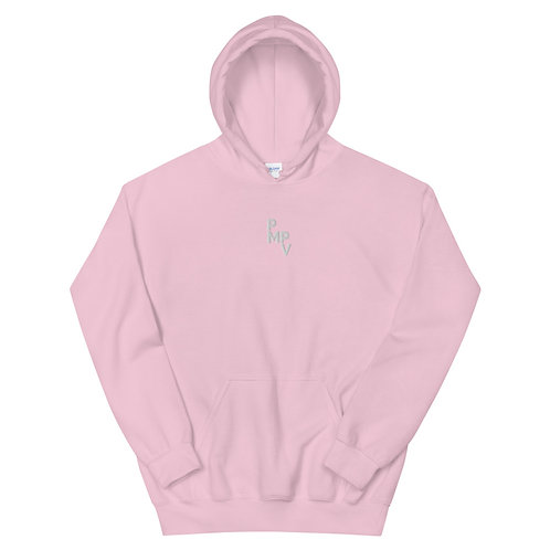 Embroidered White Logo Unisex Hoodie