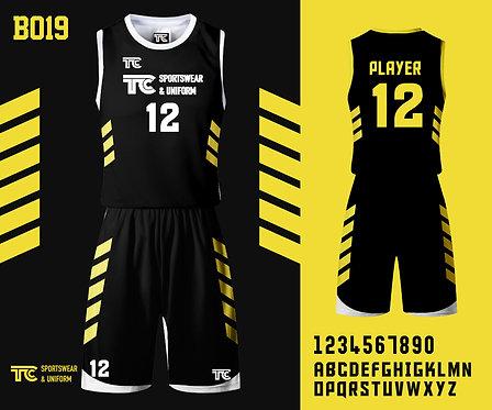 Basketball Jersey 籃球衫 (Design Template 參考設計 B019)