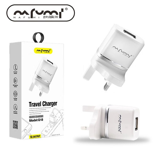 Nafumi Quick Charge (1A Output) Travel Charger | Q18
