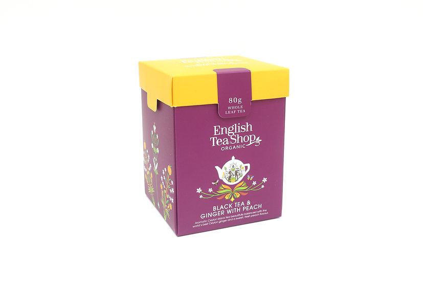 Black Tea & Ginger with Peach (80g Whole Leaf Tea) | English Tea Shop | 059868