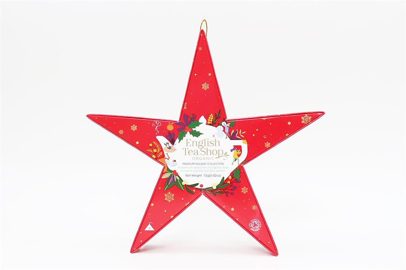 Red Star Gift Pack (6 Loose Leaf Tea Pyramid Bags)   English Tea Shop   058410