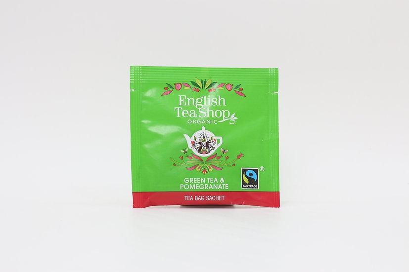 Green Tea & Pomegranate (50 Loose leaf pyramid tea bags) | 061113