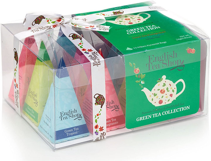 Green Tea Collection (12 Pyramid Tea Bags) | English Tea Shop | 030577