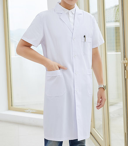 男裝短袖醫生袍 Men Short Sleeve Medical Coat  (TC344HB43 | Y101)