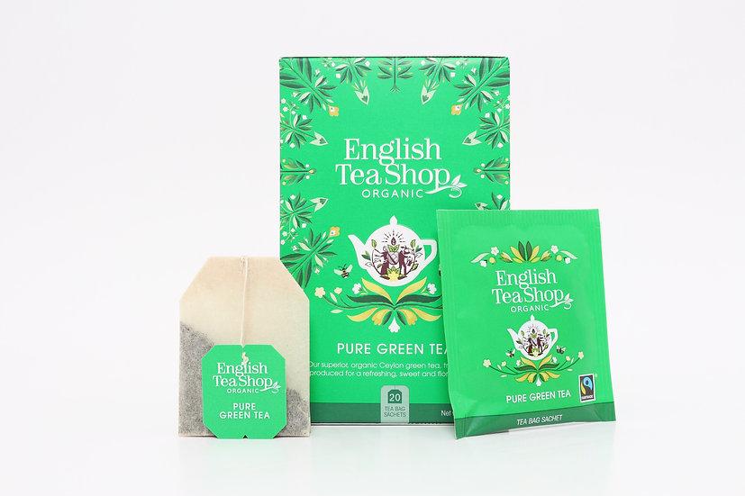 Pure Green Tea (20 Tea Bag Sachets) | English Tea Shop | BR291513
