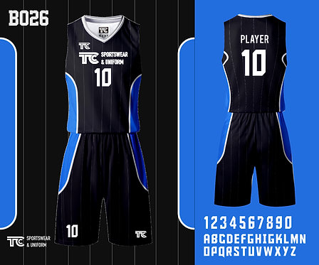 Basketball Jersey 籃球衫 (Design Template 參考設計 B026)