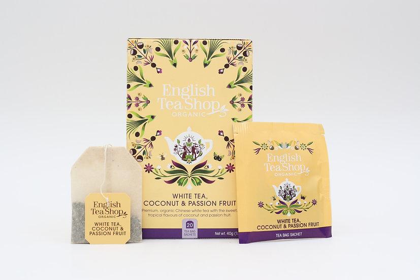 White Tea, Coconut & Passion Fruit (20 Tea Bag Sachets)   BR529758