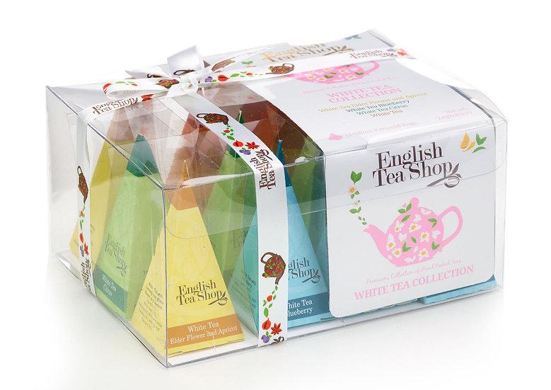 White Tea Collection (12 Pyramid Tea Bags) | English Tea Shop | 030584