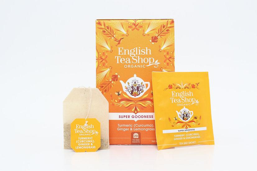 Turmeric (Curcuma), Ginger & Lemongrass (20 Tea Bag Sachets) | BR578025