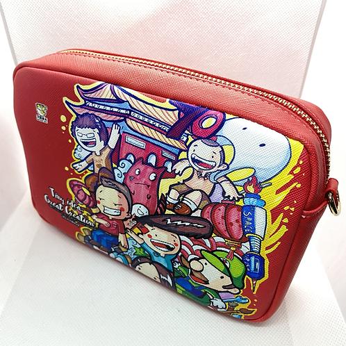 自訂單肩袋 Shoulder Bag with Personalized Print | 手繪作品 (TCW-1120)