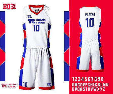 Basketball Jersey 籃球衫 (Design Template 參考設計 B031)