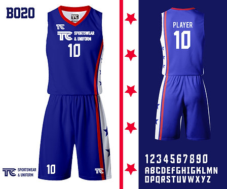 Basketball Jersey 籃球衫 (Design Template 參考設計 B020)