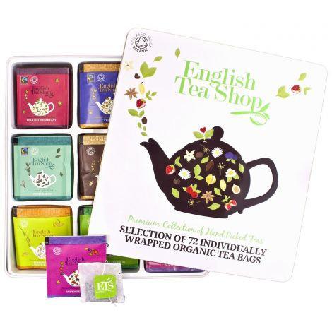 Assorted Luxury Gift Tin (72 Envelope Tea Bags)   English Tea Shop   034858