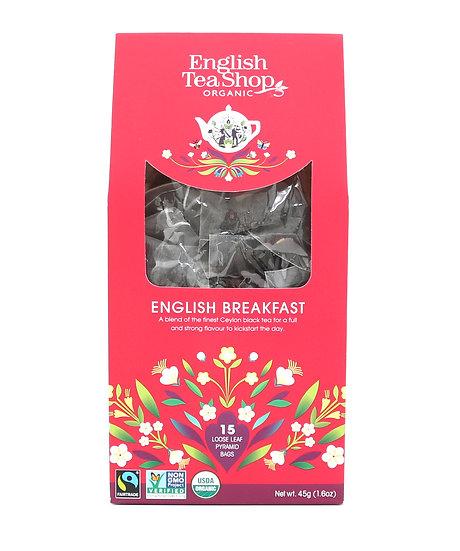 English Breakfast (15 Loose leaf pyramid tea bags) | English Tea Shop | 059448