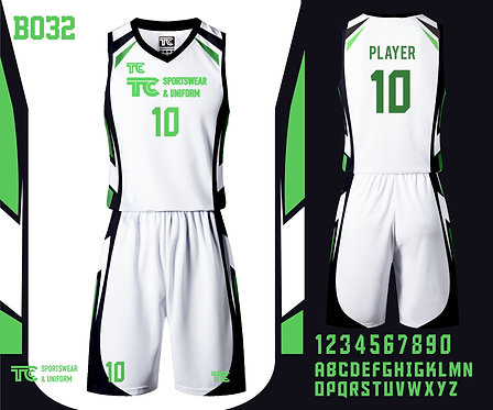 Basketball Jersey 籃球衫 (Design Template 參考設計 B032)