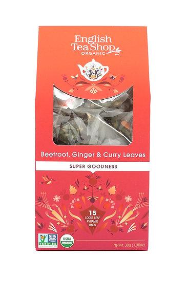 Beetroot, Ginger & Curry Leaves (15 Loose leaf pyramid tea bags) | 059660