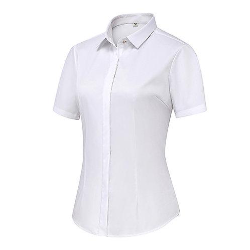 女裝短袖裇衫Ladies Short Sleeve Shirt (TCAIK-HBZD)