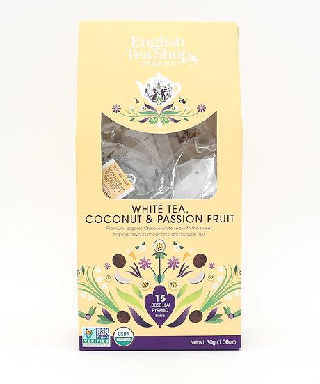 White Tea, Coconut & Passion Fruit (15 Loose leaf pyramid tea bags) | 059523