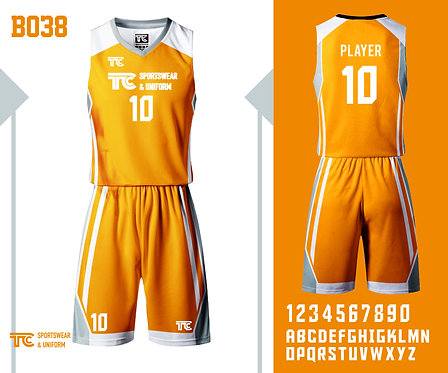 Basketball Jersey 籃球衫 (Design Template 參考設計 B038)