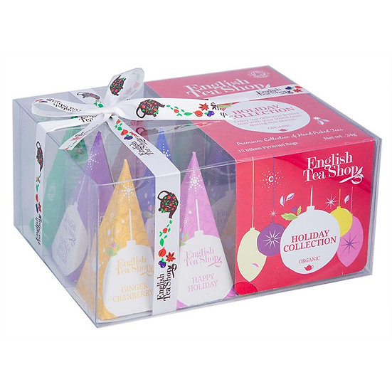Red Baubles Prism (12 Pyramid Tea Bags) | English Tea Shop | 055426