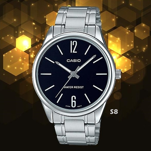 Casio Stainless Steel Watch (Unisex) | MTP-V005D-1B | S8