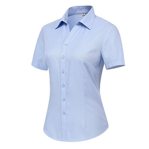 女裝短袖裇衫 Ladies Short Sleeve Shirt (TCAIK-HBZD)