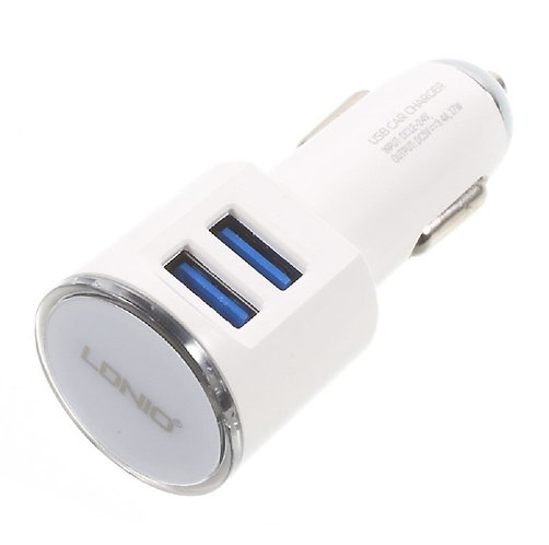 LDNIO 3.4A Dual USB Car Charger with Charging Cable | DL-C29