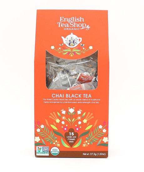 Chai Black Tea (15 Loose leaf pyramid tea bags)   059486