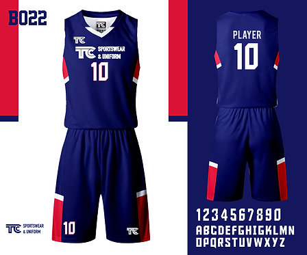 Basketball Jersey 籃球衫 (Design Template 參考設計 B022)