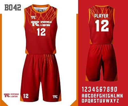 Basketball Jersey 籃球衫 (Design Template 參考設計 B042)