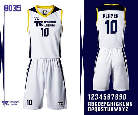 Basketball Jersey 籃球衫 (Design Template 參考設計 B035)