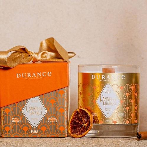 Bougie parfumée Cannelle Orange mèche bois 280g (40h)
