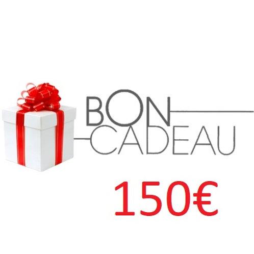 Bon cadeaux de 150€
