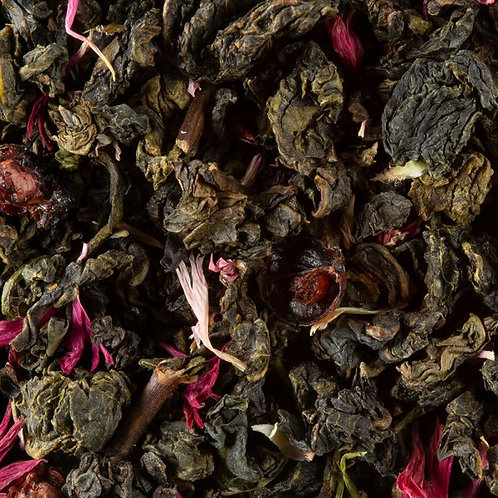 THE OOLONG VERT FRUITS ROUGES SACHET DE 50G - DAMMANN
