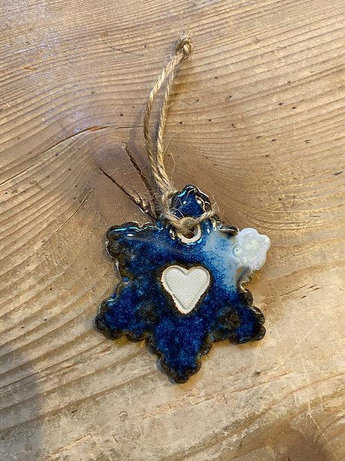 flocon bleu céramique