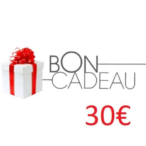 Bon cadeaux de 30€